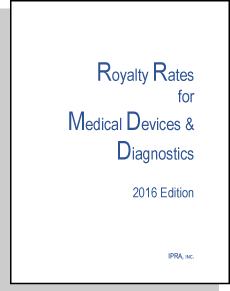 Royalty Rates for Medical Devices and Diagnostics, 2016 Edition