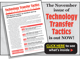 Technology Transfer Tactics, November 2018 Issue