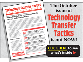 Technology Transfer Tactics, October 2018 Issue