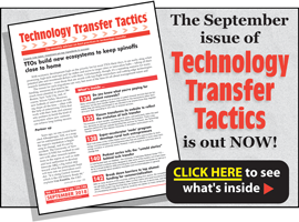 Technology Transfer Tactics, September 2018 Issue