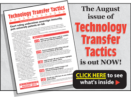 Technology Transfer Tactics, August 2019 Issue