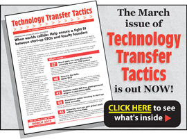 Technology Transfer Tactics, March 2019 Issue