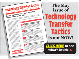 Technology Transfer Tactics, May 2019 Issue