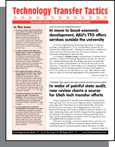 Technology Transfer Tactics, July 2015 Issue