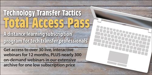 Technology Transfer Tactics Total Access Pass