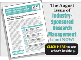 Industry-Sponsored Research Management, August 2018