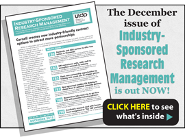 Industry-Sponsored Research Management, December 2018