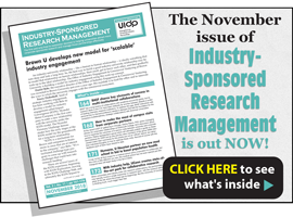 Industry-Sponsored Research Management, November 2018