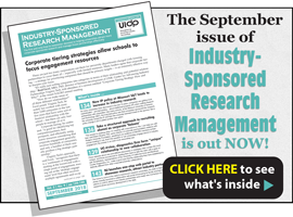 Industry-Sponsored Research Management, September 2018