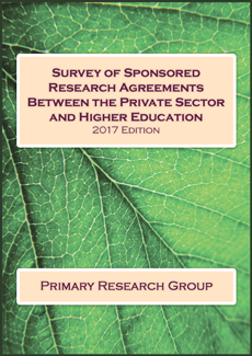 Survey of Sponsored Research Agreements between the Private Sector and Higher Education