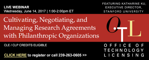 Cultivating, Negotiating, and Managing Research Agreements with Philanthropic Organizations