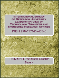 International Survey of Research University Leadership: View of Technology Transfer and Sponsored Research Offices