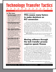 Technology Transfer Tactics, September 2017 Issue