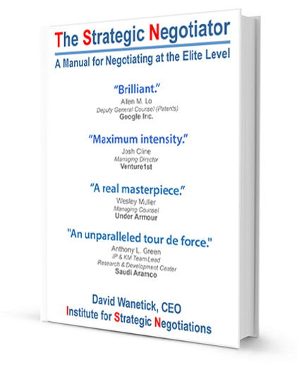 The Strategic Negotiator by David Wanetick