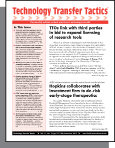 Technology Transfer Tactics, December 2017 Issue