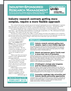 Industry-Sponsored Research Management, February 2018