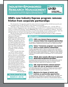 Industry-Sponsored Research Management, March 2018