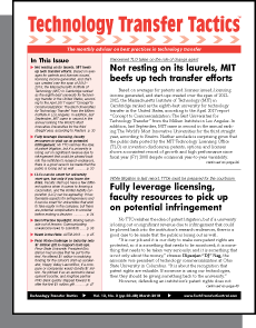 Technology Transfer Tactics, March 2018 Issue