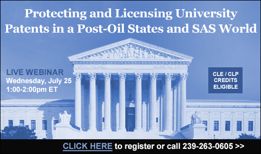 Protecting and Licensing University Patents in a Post-Oil States and SAS World