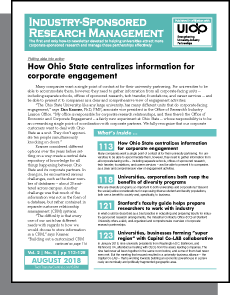 Industry-Sponsored Research Management, July 2018