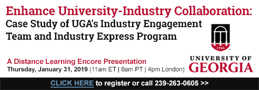 Enhance University-Industry Collaboration: Case Study of UGA's Industry Engagement Team and Industry Express Program