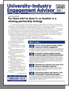 University-Industry Engagement Advisor, February 2019