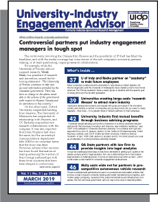 University-Industry Engagement Advisor, March 2019