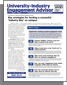 University-Industry Engagement Advisor, May 2019