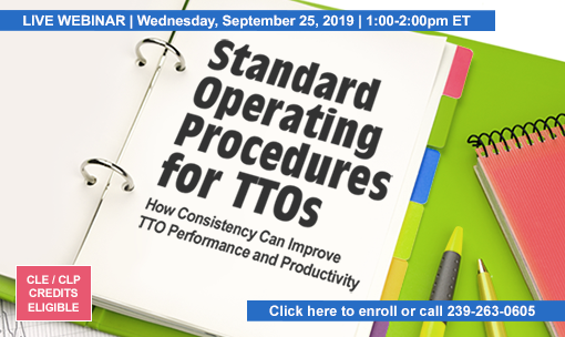 Standard Operating Procedures for TTOs: How Consistency Can Improve TTO Performance and Productivity