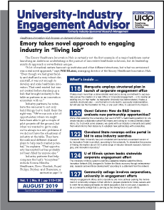 University-Industry Engagement Advisor, August 2019
