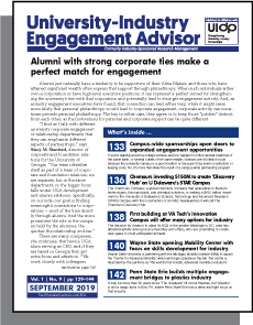University-Industry Engagement Advisor, September 2019