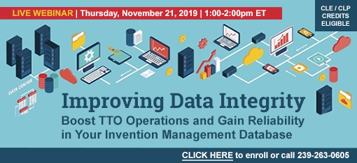 Improving Data Integrity: Boost TTO Operations and Gain Reliability in Your Invention Management Database