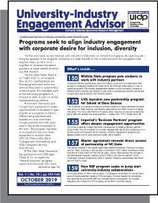 University-Industry Engagement Advisor, October 2019