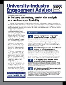 University-Industry Engagement Advisor, November 2019