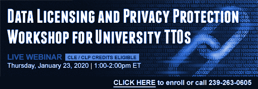 Data Licensing and Privacy Protection Workshop for University TTOs