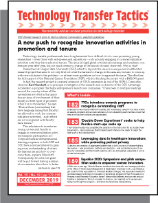 Technology Transfer Tactics, December 2019 Issue