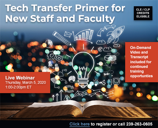 Tech Transfer Primer for New Staff and Faculty