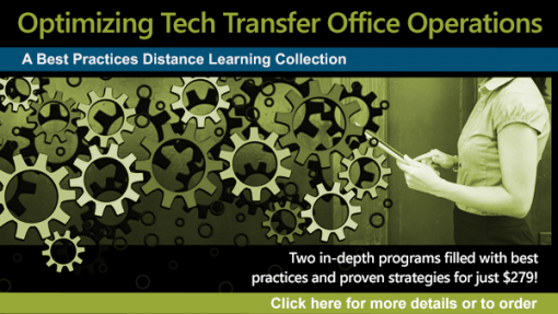 Optimizing Tech Transfer Office Operations