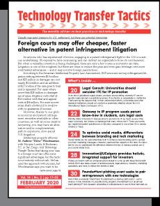 Technology Transfer Tactics, February 2020 Issue