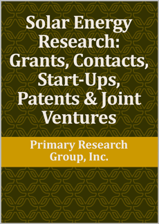 Solar Energy Research: Grants, Contacts, Start-Ups, Patents & Joint Ventures