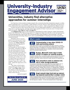 University-Industry Engagement Advisor, June 2020