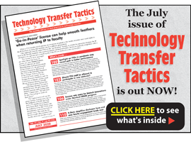 Technology Transfer Tactics, July 2020 Issue