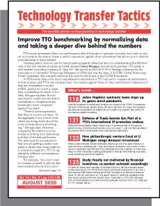 Technology Transfer Tactics, August 2020 Issue