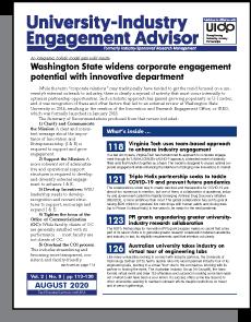 University-Industry Engagement Advisor, August 2020