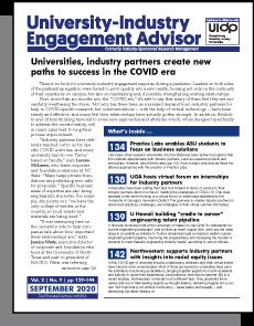 University-Industry Engagement Advisor, September 2020