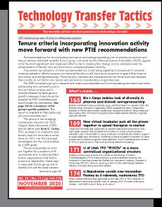 Technology Transfer Tactics, November 2020 Issue