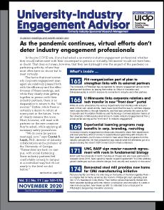 University-Industry Engagement Advisor, November 2020