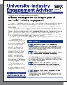 University-Industry Engagement Advisor, December 2020