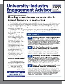 University-Industry Engagement Advisor, January 2021