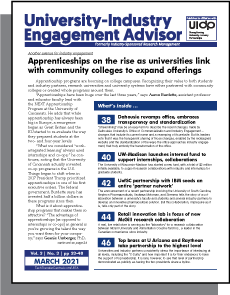 University-Industry Engagement Advisor, March 2021